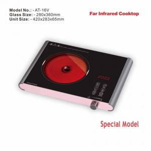 Amor new innovation infrared cooker AT-16V high quality skin touch with knob infrared hotplate