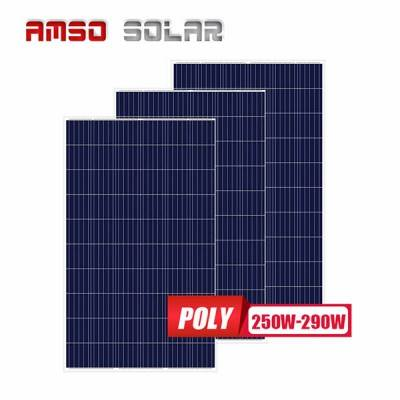 OEM Supply Mini Size Poly Solar Panels 50w - 60 cells standard size poly blue solar panels 260w270w280w290w  – Amso