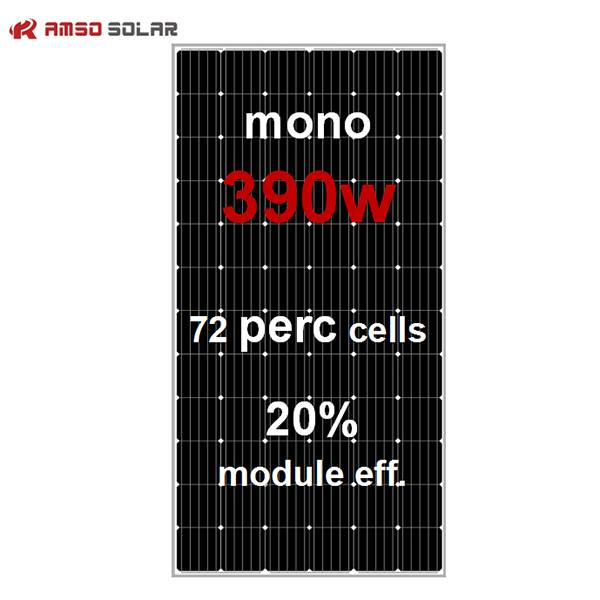 72 cells standard size mono black solar panels 390w Featured Image