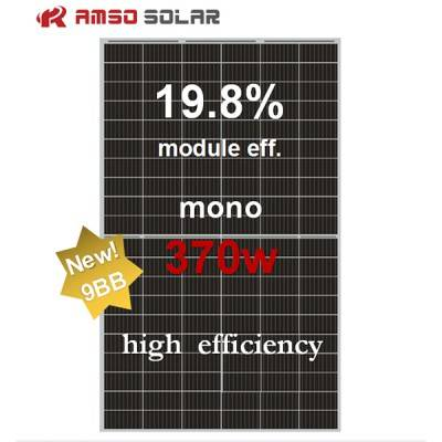 Original Factory 12 Volt Solar Panels - 9BB 120 half cells mono solar panel 370w – Amso