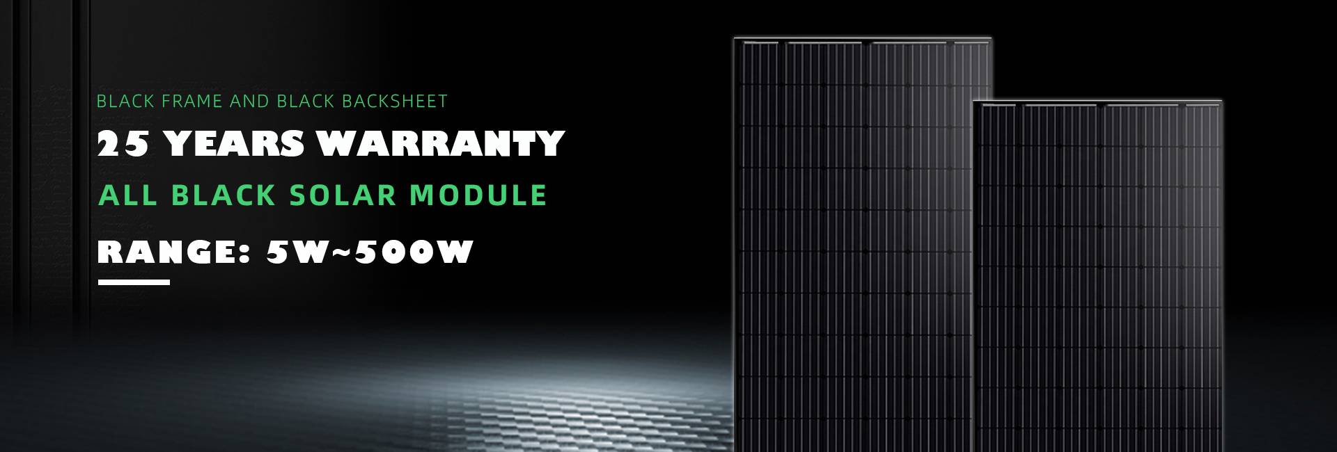 All black solar panels