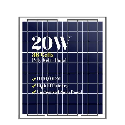 Mini solar panels customized cells poly 20w