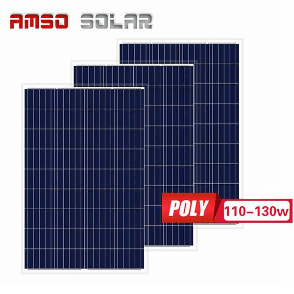 factory low price Grid Tied Solar System - Small size customized mono solar panels 110w120w130w – Amso