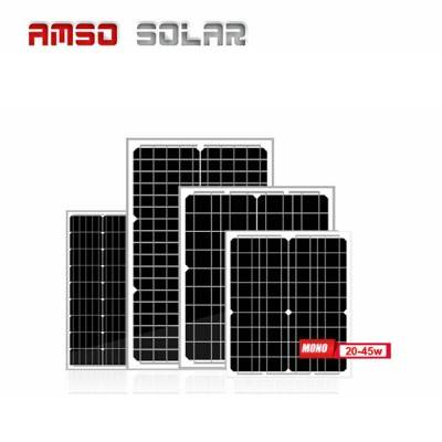 Small size customized mono solar panels 20w30w35w45w