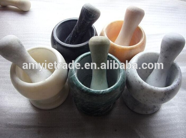 Different Color Marble Mortar And Pestle