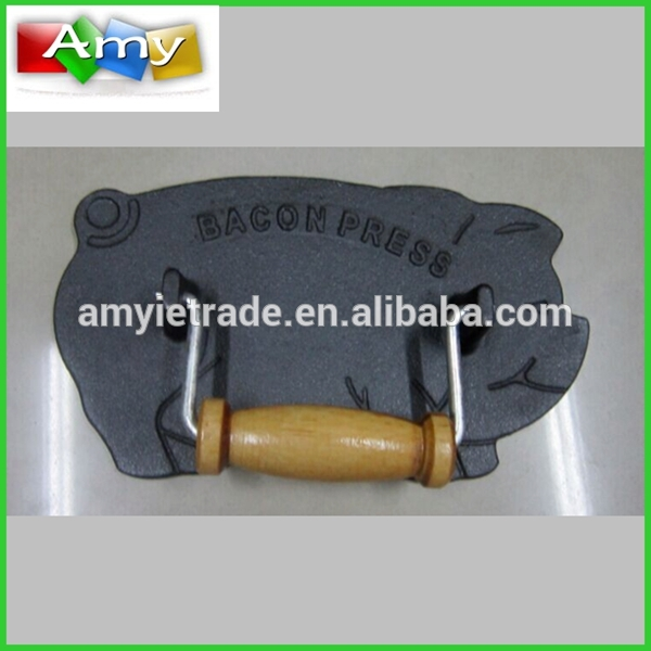 New Arrival China Campfire Die Casting Skillet - Cast Iron Bacon Press, Cast Iron Cooking Press – Amy