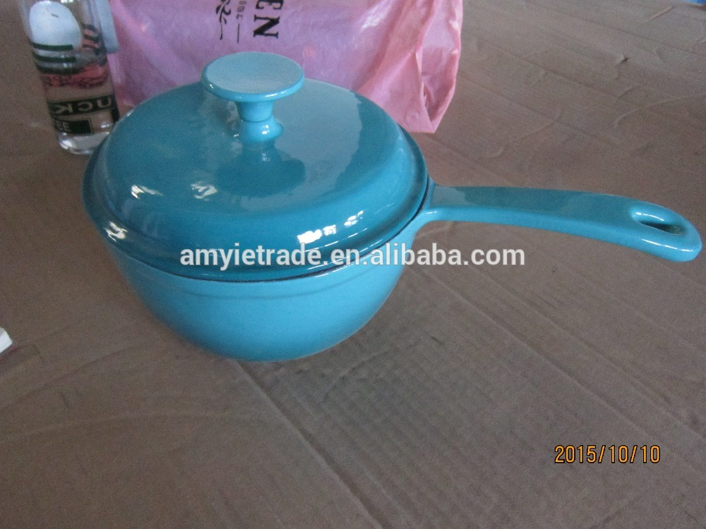 cast iron color enamel casserole/cast iron cookware