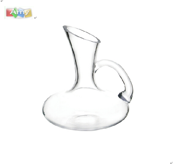 Lead free Grade A glass wine decanter