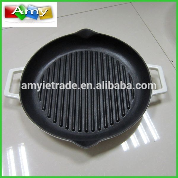 Original Factory Electric Cooker Frying Pan - Cast Iron Cookware Wholesale, Two Handle Cast Iron Grill Pan – Amy