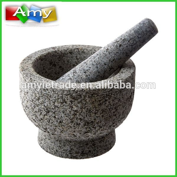 Granite Mortar And Pestle With Pit Surface