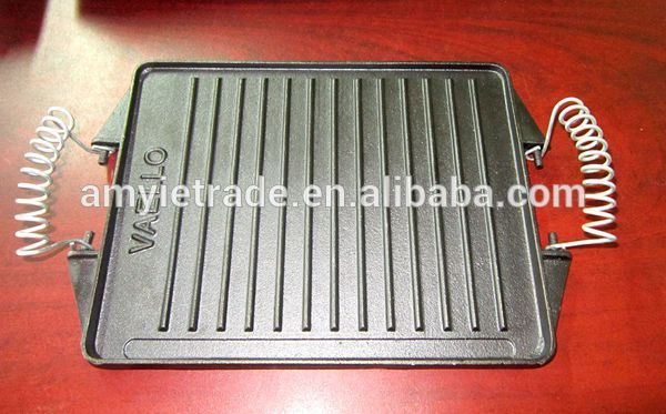 New Arrival China Stainless Steel Investment Casting - Reversible Cast Iron Griddle with Wire Handles – Amy