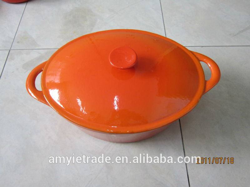 enameled cast iron casserole, cast iron oval pot, cast iron enameled cookware