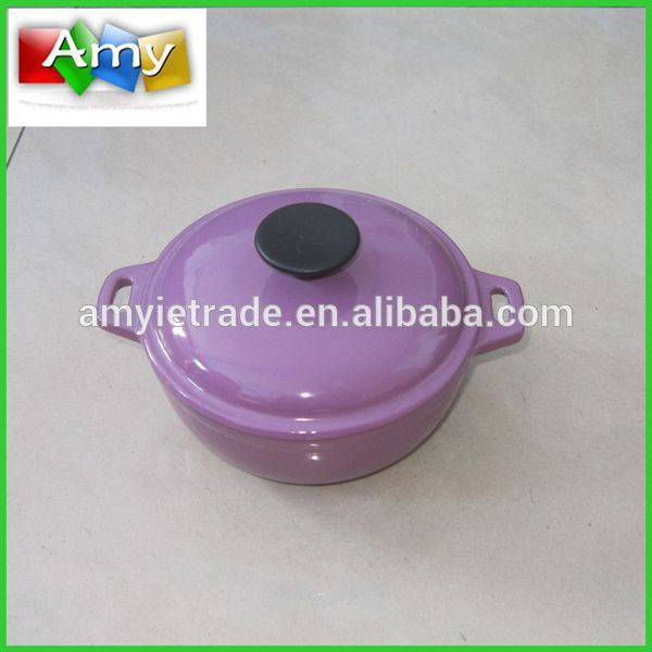 Professional China Hot Pink Ceramic Cookware Set - Cast Iron Mini Dutch Oven,Enamel Cast Iron Cookware – Amy
