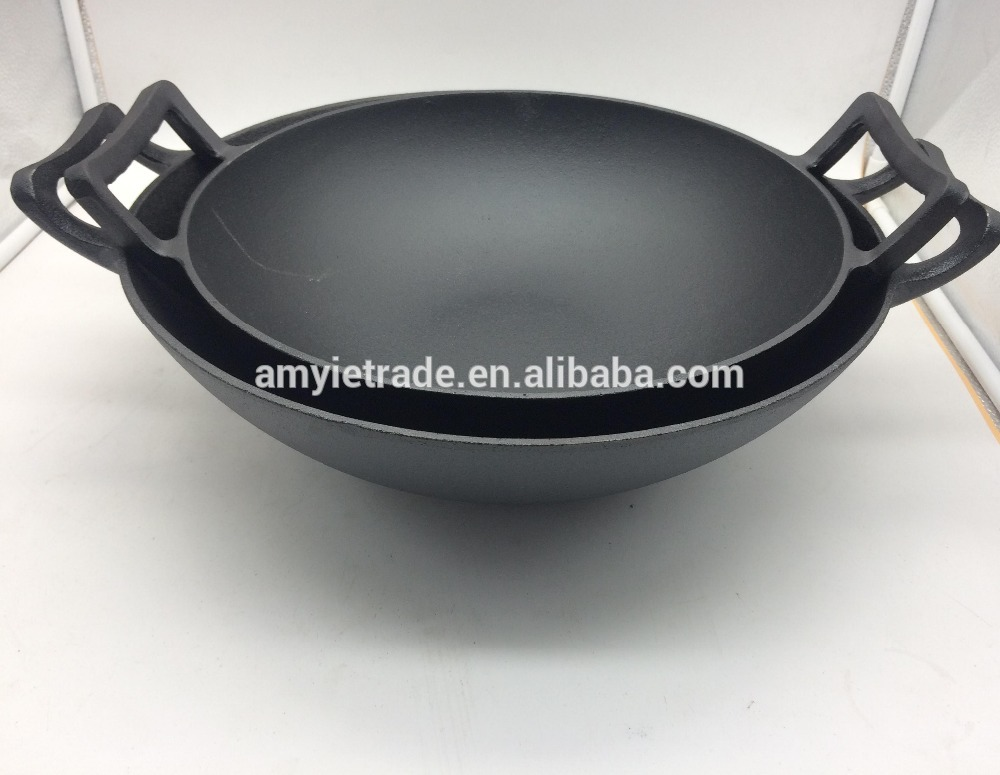 Wholesale Copper Square Fry Pan - Cast Iron China Wok – Amy