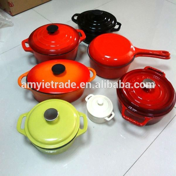 Factory wholesale Non-stick Casserole Sets - Colored Cast Iron Cookware, Enamel Cast Iron Cookware Set – Amy