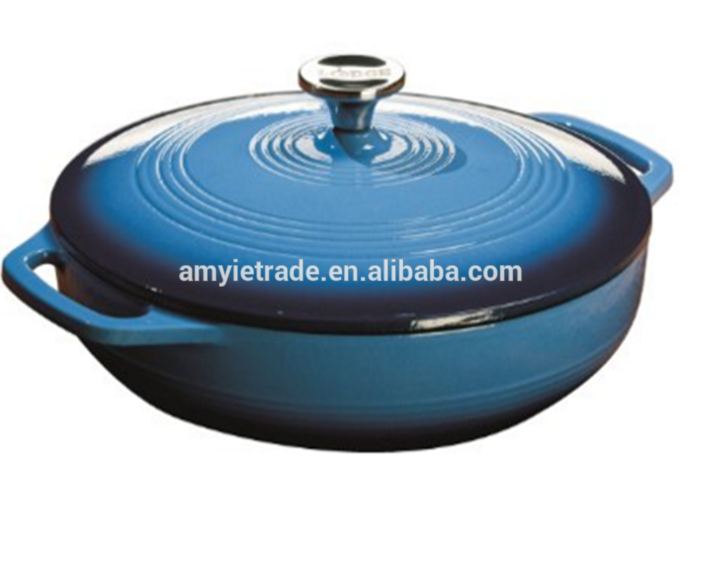 Color EC3CC33 Enameled Cast Iron Covered Casserole Carribbean Blue