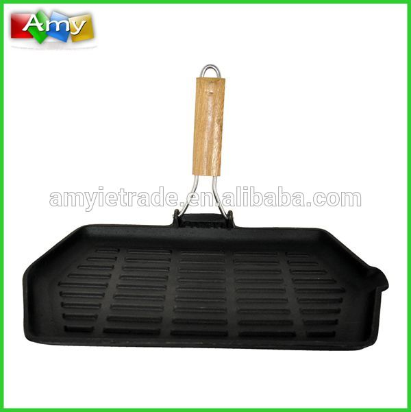SW-F062W rectangle large cast iron grill pan, cast iron BBQ grills