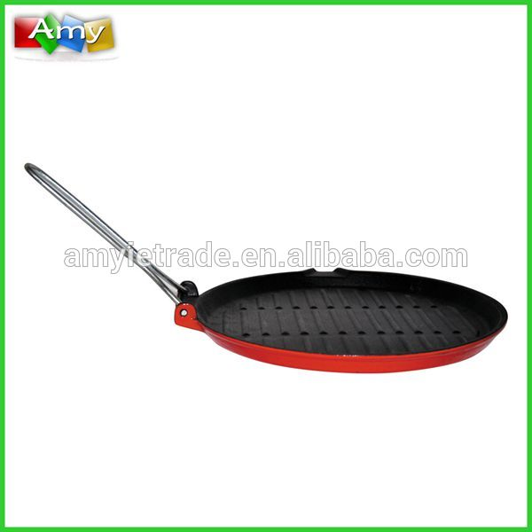Excellent quality Housewares Kitchenware - Cast Iron Grill Pan with Removable Handle, Cast Iron Cookware – Amy