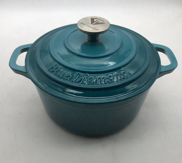 FDA Certified Enameled Cast Iron Oven Ceramic Coating Dutch Oven Enameled Cast Iron Wok
