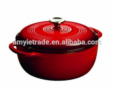 Color EC6D43 Enameled Cast Iron Dutch Oven Island Spice Red