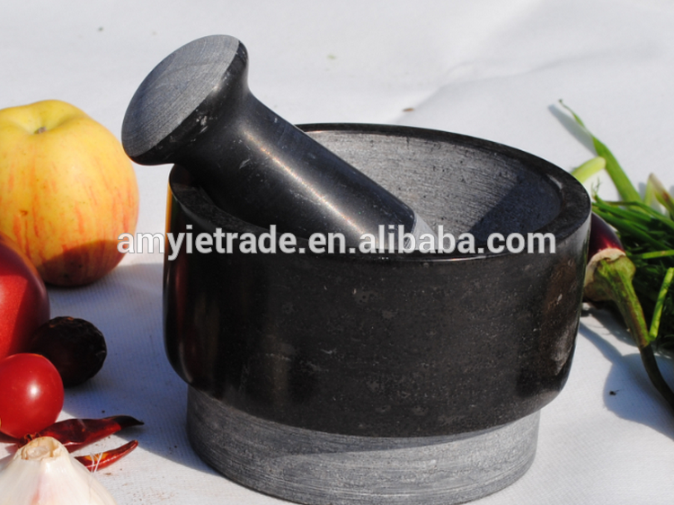 granite polished mortar and pestle