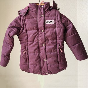 China Environmentally Friendly Clothing Factories - The Removeble Sleeves And Hood Jacket For Kids And Ladies – Anbzeng