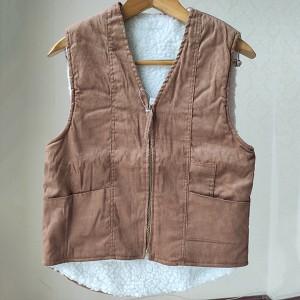 Wholesale Garments Clothing Manufacturers - The Corduroy Vest For Ladies – Anbzeng