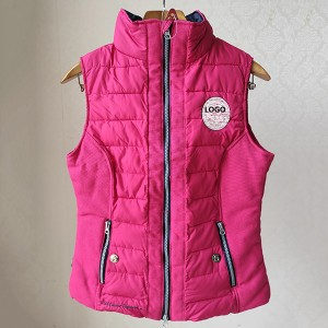Wholesale Discount Clothing Factories - The Different Fabric Stitching Padded Vest For Ladies – Anbzeng