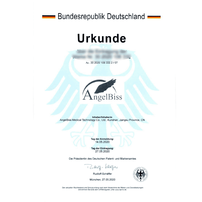 Angelbiss successfully registered a German trademark