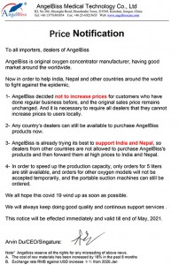 To all importers, dealers of AngelBiss