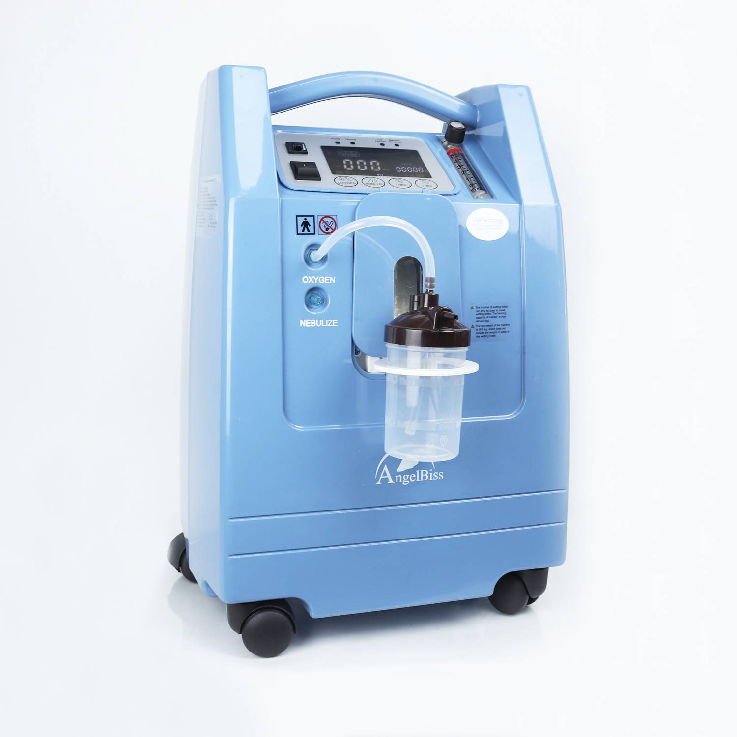 Rechargeable Oxygen Concentrator (AC, DC, Batteries) ANGEL-5SB