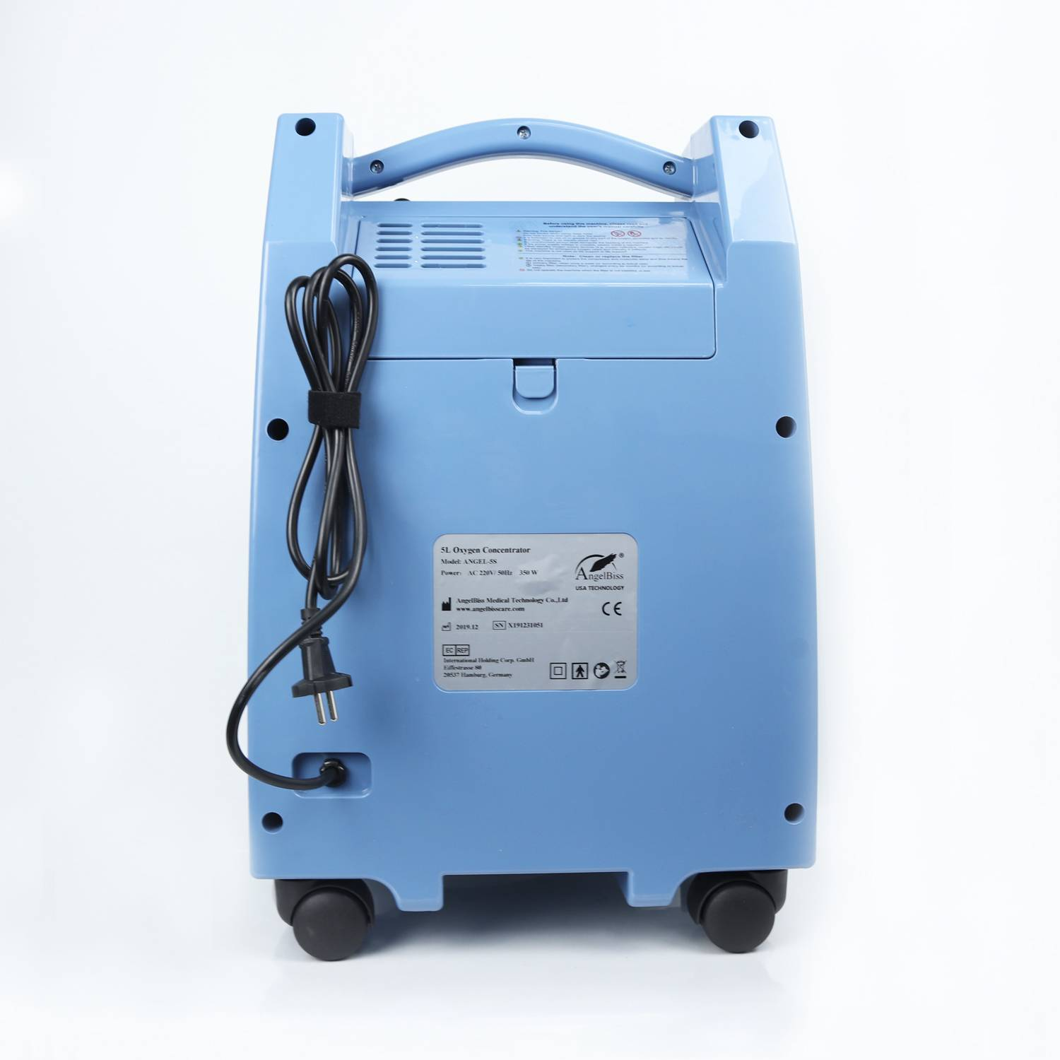 China Wholesale PSA Oxygen Concentrator Suppliers - Rechargeable Oxygen Concentrator (AC, DC, Batteries) ANGEL-5SB – AngelBiss detail pictures