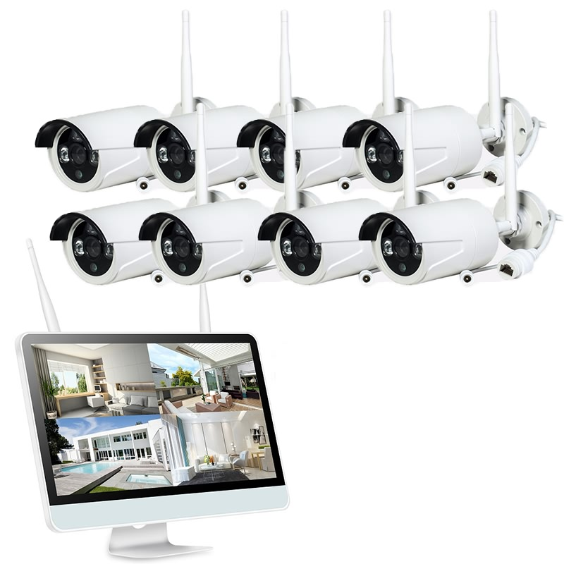 Wholesale Price Cctv Wifi Camera Kit - 8CH 720P/1080P HD Wifi NVR Kits with Screen – Aopvision
