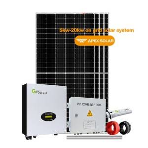 Discount Price Off Grid On Grid And Hybrid Solar System - 5kw 6kw 8kw 10kw  15kw 20kw on grid solar system – Apex Solar