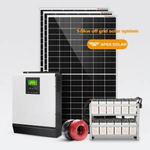 Factory made hot-sale New Solar Panels - Solar Off Grid System 1-5kw – Apex Solar
