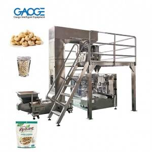 Fully Automatic Doypack Stand Up Spout Pouch Zip Bag Given Bag Cashew Packing Machine