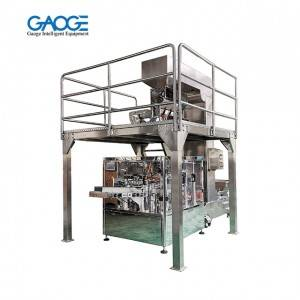 Zipper Doypack Automatic Rotary Fill & Seal Packaging Machinery With Linear Scales for Granules