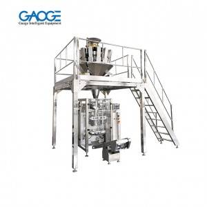 GVF VFFS Vertical Form Fill Seal Packing Machine With Multihead Scales