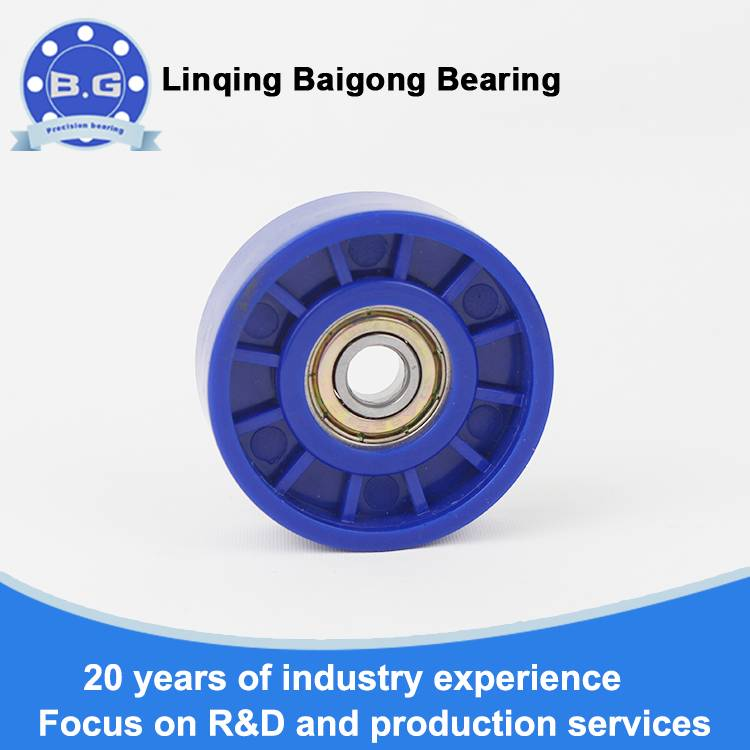 Stamped rubber bearings