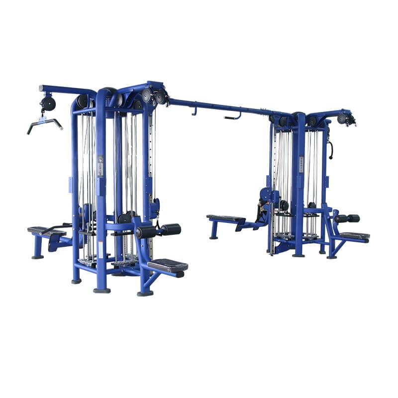 18 Years Factory Standing Leg Curl - 8 muliti station  jungle BS-ANS-3026 – Baisheng