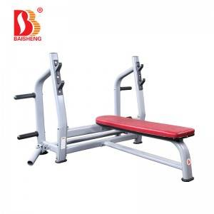 OEM China Leg Extension - Olympic Flat Weight Bench with T Bar Row BS-A-3027s – Baisheng