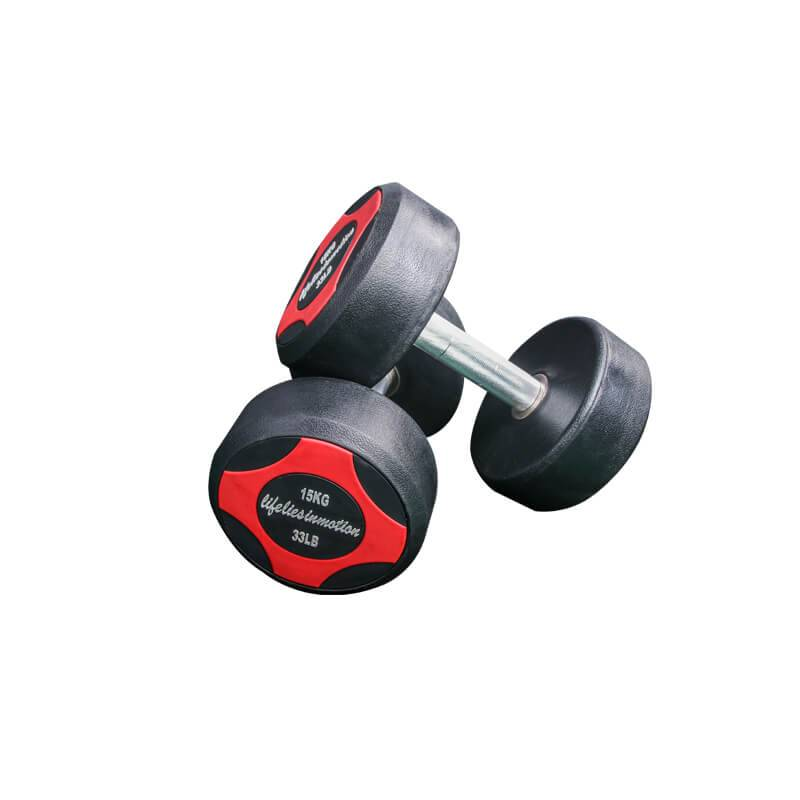 Chinese Professional Tricep Bar - Fixed Rubber Dumbbell BS-2104B  – Baisheng