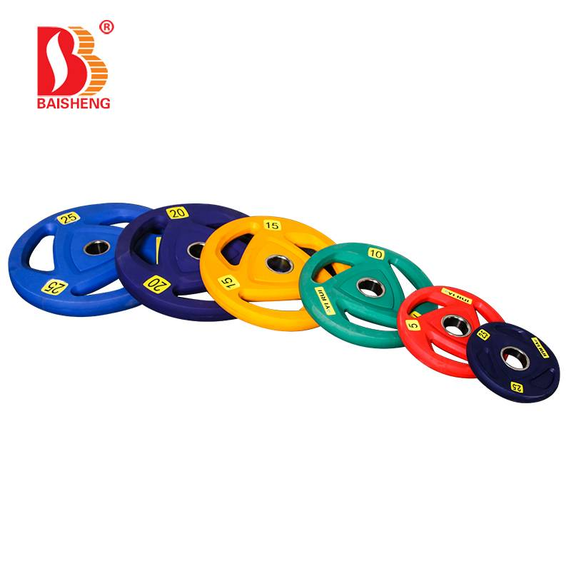 Chinese Professional Tricep Bar - Colorful TPU Weight Plate BS-1006B  – Baisheng