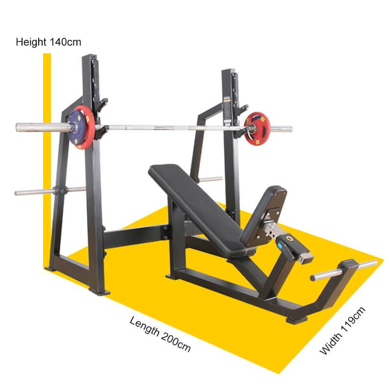 Factory Price For Abdominal Isolator - Olympic Incline Weight Bench BS-F-1032 – Baisheng