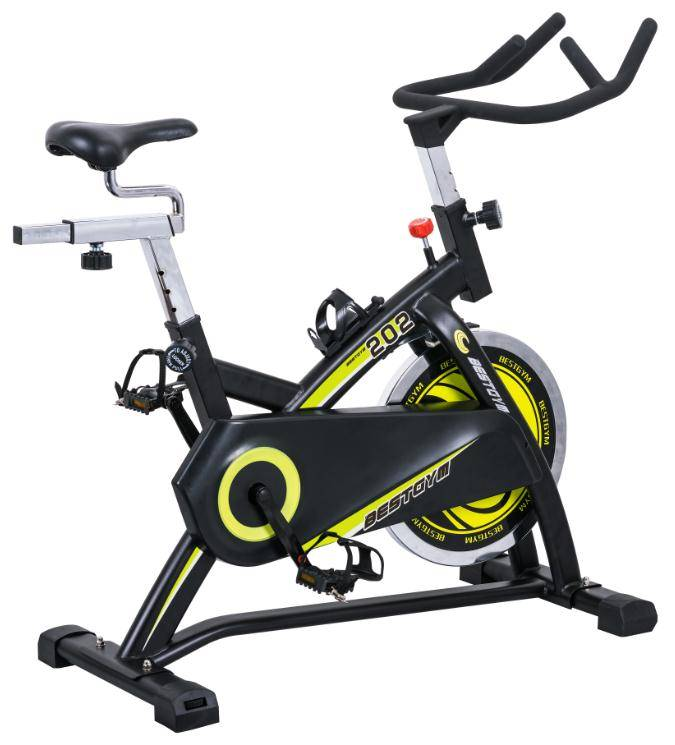 Deluxe Indoor Cycling Bike with LCD Monitor Cycle Trainer Exercise Spining Bicycle