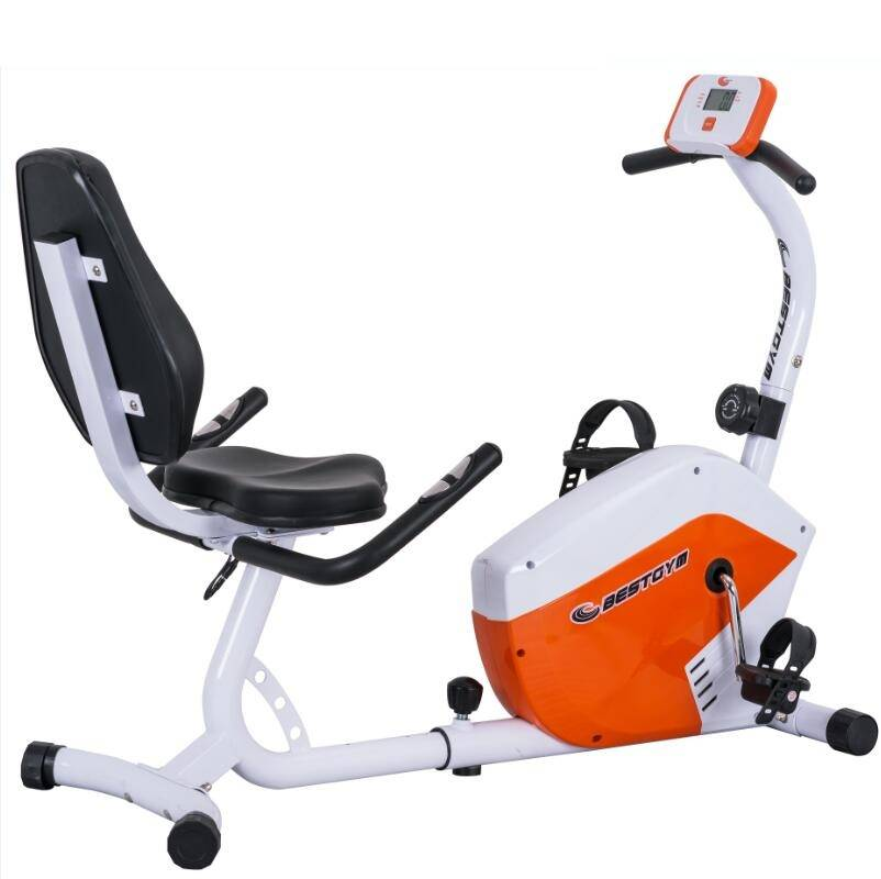 China Manufacturer price home exercise equipment Body fit recumbent exercise bike with backrest