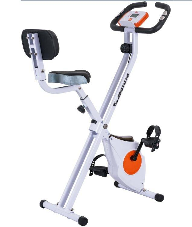 Foldable indoor bike trainer fitness equipment for body building