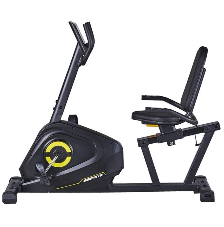 Cardio Fitness Equipment Flywheel 4kg Manual Resistance Recumbent Bike