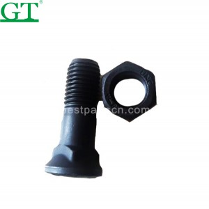 PriceList for Komatsu Track Link - 5J4771+2J3506 Plow Bolt and Nut 40Cr 12.9 grade high strength mounting bolt – Globe Truth