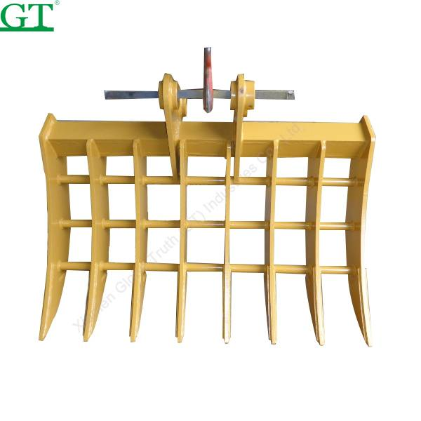 OEM/ODM China Track Adjuster Excavator - Digging Bucket standard size for HD250 with rock grab type with the rear wall like a rake – Globe Truth